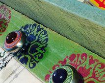 Recyceltem Holz Regal /wall hanging Palettenlager schwebende Regale / zurückgefordert Holzdekor Akzent Regale Stenciled…