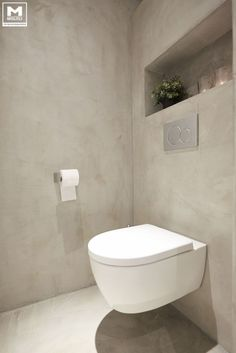 How to Create Bathroom that Fit Best Toilet Closet - Home of Pondo - Home Design Grey Toilet, Small Toilet, Toilet Closet, Toilet Room, Bad Inspiration, Bathroom Inspiration, Bathroom Toilets, Small Bathroom, Serene Bathroom