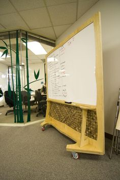 Rolling Partitions | Multi Functional Thatch And White Board Rolling  Partitions Help Add To The