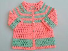 crochet baby sweater coatjacket