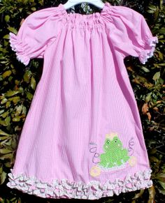 Stellybelly Frog Applique Dress