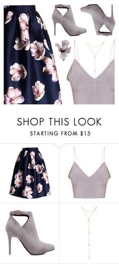 """Blossoms, Boots, Bralette"" by cb-hula ❤ liked on Polyvore featuring Chicwish and Fragments"