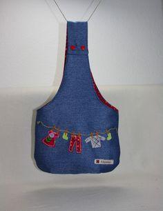 Wäscheklammernbeutel - Wäschklammerbeutel, Wäschklammersack, Klammersack - ein Designerstück von Kaepseles bei DaWanda