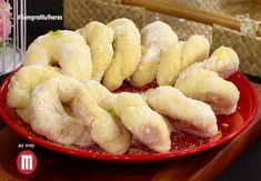 Rosquinhas de laranja — Receitas Sweet Recipes, Cake Recipes, Cookies, Onion Rings, Four, Biscotti, Scones, Quiche, Macaroni And Cheese