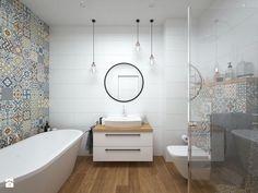 Projekt domu / 90 m2 / Kraków - Średnia łazienka bez okna, styl eklektyczny - zdjęcie od BIG IDEA studio projektowe