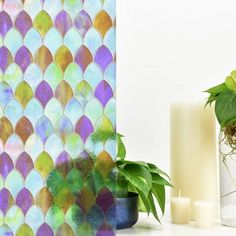 With a stylish design inspired by peacock feathers, this premium privacy window film creates a chic stained glass effect. Window Clings, Window Coverings, Sidelight Windows, Stained Glass Window Film, Bathroom Wall Panels, Film Home, Craftsman Interior, Window Privacy, Porch Lighting
