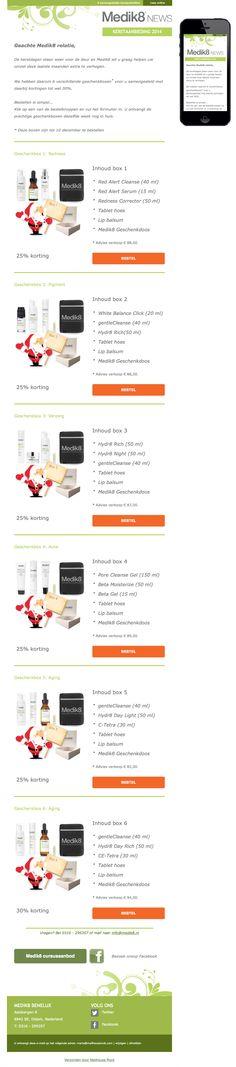 6 kerstpakketten met de beste producten van Medik8 #fullservice #emailmarketing Mail Marketing