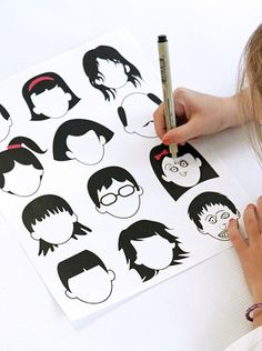 Free printable blank faces drawing page for kids - thinking this might be good for cartooning/practicing drawing emotions...