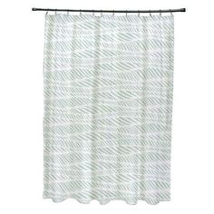 World Menagerie Rafia Rolling Waves Shower Curtain Color:
