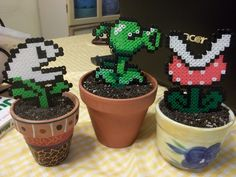 These are super cute Mario plants! Love the work some peoples are doing with perler beads.