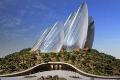 Futuristic Architecture, Zayed National Museum, Foster + Partners architects, Saadiyats Island Cultural District, Arab Emirates, UAE