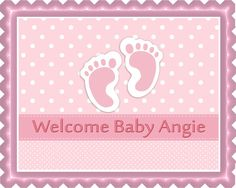 Baby Feet Foot Pink Edible Birthday Cake Topper
