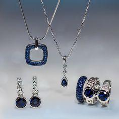 Zinzi silver jewels for Blue Monday