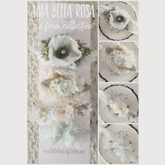 Size | Newborn to AdultColor | Sea Foam Blue/Cream/Green/White Details | Set of four tiebacks Care | Spot cleanNote | Product intended as a photo prop. Do not leave baby unattended.Photo | Ama Bella Rosa