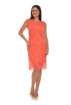 Rochie midi din dantela CSF-134 corai -  Ama Fashion Formal Dresses, Fashion, Tea Length Formal Dresses, Moda, Formal Gowns, Fashion Styles, Black Tie Dresses, Gowns, Fashion Illustrations