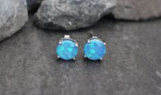 Opal Stud Earrings