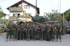 Picture of Canadian Soldiers taken during a peacekeeping tour in Bosnia.  -Michael Eng and Ricky Xue CHC2P1-15