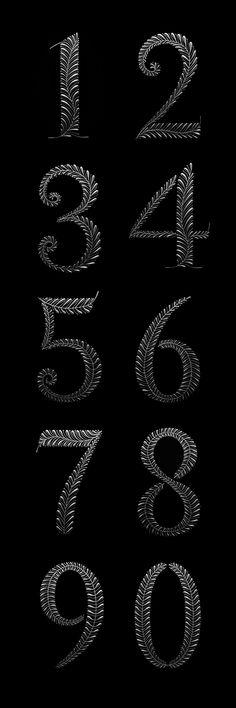 26 ideas tattoo fonts script alphabet leaves for 2019 Script Alphabet, Typography Alphabet, Typography Fonts, Typography Design, Number Typography, Trendy Tattoos, New Tattoos, Chalkboard Numbers, Number Fonts