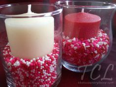 Candy Votives - these are making my dining room table so happy! :)