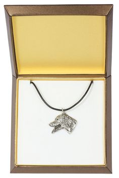 NEW Dalmatian dog necklace in casket limited by ArtDogshopcenter