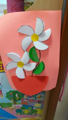 Mother's Day Crafts for Kids: Preschool, Elementary and Easy Easter Crafts for KidsPom Pom Bunnies Valentine Crafts For Kids, Spring Crafts For Kids, Paper Crafts For Kids, Mothers Day Crafts, Preschool Crafts, Easter Crafts, Art For Kids, Kindergarten Crafts, Easy Mother's Day Crafts