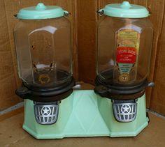 Vintage Columbus Porcelain Bi Mor Pistachio Peanut Gumball Vending Machine