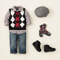 Wouldn't Elijah look adorable in this with his little trumpet in his hands?