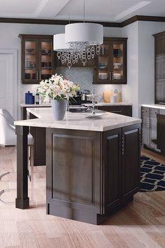Best 59 Best Dark Brown Kitchens Images Brown Kitchens 640 x 480