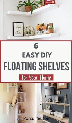 White Shelves, Floating Shelves Diy, Dance It Out, Bookshelves, Repurposed, Diy Home Decor, Home Goods, Easy Diy, Diy Projects