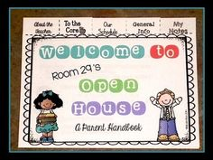 Editable Back to School/Open House Parent Flip Books - 3rd Grade w/ CCSS $