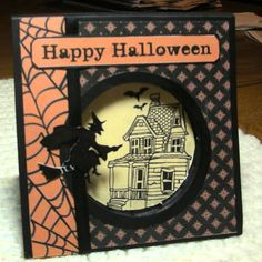 Halloween Recessed Window by MaggieMayLove - Cards and Paper Crafts at Splitcoaststampers