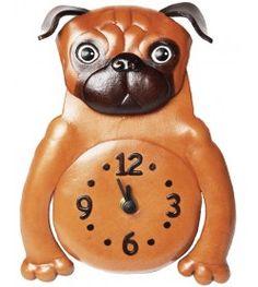 Pug Japanese Leather Wall Clock #26263