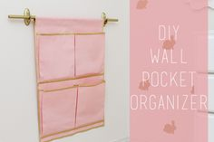 DIY Wall Pocket Organizer step by step tutorial