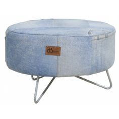 Coffee table recycled denim
