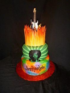 Jimi Hendrix Cake by Sugar N Slice Cakes in Decatur GA. Sugarnslicecakes@yahoo.com