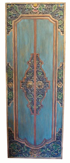 Large Indonesian Carved Door Panel on Chairish.com