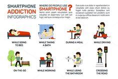 Vector flat - smartphone addiction by Elegant Solution on @creativemarket