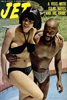 Isaac Hayes and his wife on the cover of Jet magazine, June 1973.