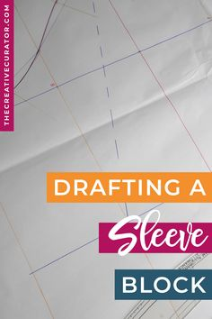 Learn how to draft a sleeve block with this super simple 8 step pattern drafting tutorial! If you've made a female bodice block and need a sleeve block to go with it, this sleeve pattern making tutorial will help you create your own sleeve block using a very easy and simple pattern drafting method! Click now to learn more about drafting a sleeve block for yourself using your own arm measurements!