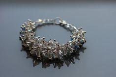 Unique bridal bracelet based on Swarovski crystals