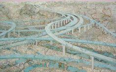 Matthew Cusick's map collage