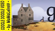 Charlotte Brontë - 198th Birthday Google Doodle - On April 21, 2014 Google celebrates Charlotte Brontë's 198th Birthday with a none animated Google Doodle.