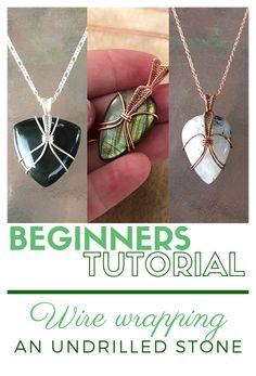 Wire Jewelry Designs, Handmade Wire Jewelry, Diy Jewelry Tutorials, Beaded Jewelry, Macrame Necklace, Stone Jewelry, Wire Tutorials, Wire Jewellery, Leather Jewelry