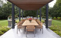 Steel pergola with Timber, by Billy Benson Co.