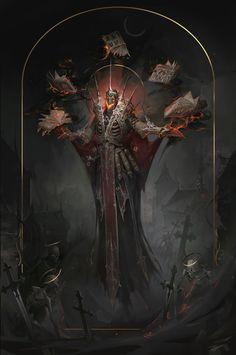 Lich – fantasy character concept by Elisabeth Nagurnaya