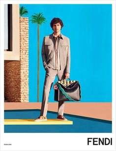 Fendi Men's Spring 2017 Ad Campaign, The best ad campaigns from fashion available to view at TheImpression.com - Fashion News