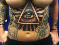 one big eye and two big breasts