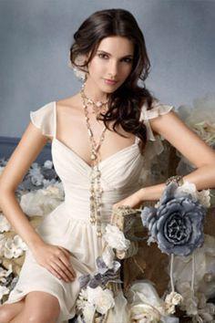 Bridesmaid Dresses A Line V Neck Sheath/Column Knee Length Chiffon