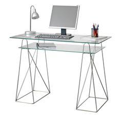 Escritorio transparente  #escritorio #transparente #pc #muebles