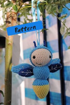 crochet amigurumi pattern firefly by FunandFang on Etsy, $4.50